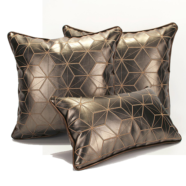 this is a picture of 3 times leather sofa cushions